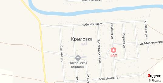 Карта села Крыловка в Орске с улицами, домами и почтовыми отделениями со спутника онлайн