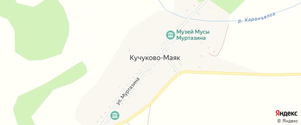 Улица Муртазина на карте деревни Кучуково с номерами домов