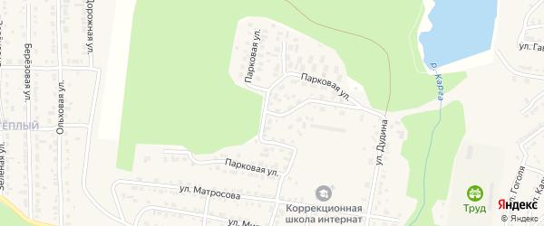 Парковая улица на карте Сатки с номерами домов