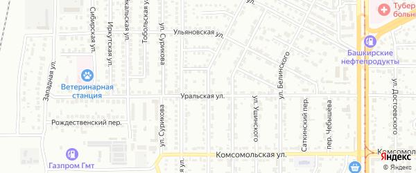 Бакинская улица на карте Магнитогорска с номерами домов
