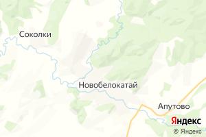 Карта с. Новобелокатай Республика Башкортостан
