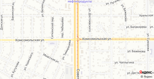 Комсомольская улица в Магнитогорске с номерами домов на карте. Спутник и схема онлайн