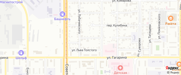 Переулок Талалихина на карте Магнитогорска с номерами домов