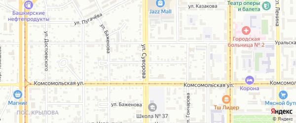Улица Балакирева на карте Магнитогорска с номерами домов