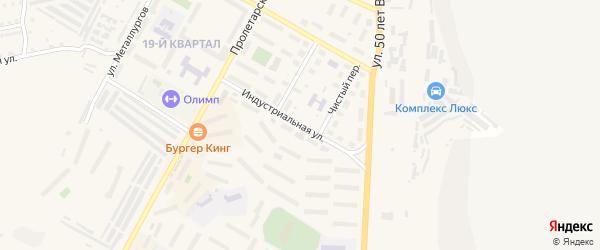 Индустриальная улица на карте Сатки с номерами домов