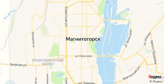 Карта Магнитогорска с улицами и домами подробная - показать