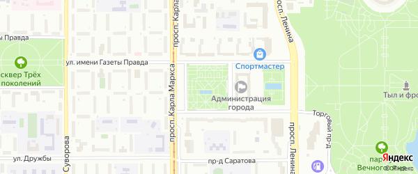 Территория ГСК Октябрь на карте Магнитогорска с номерами домов