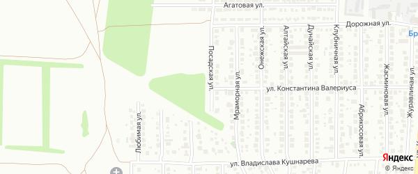 Посадская улица на карте Магнитогорска с номерами домов