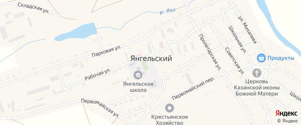 Советская улица на карте Янгельского поселка Челябинской области с номерами домов