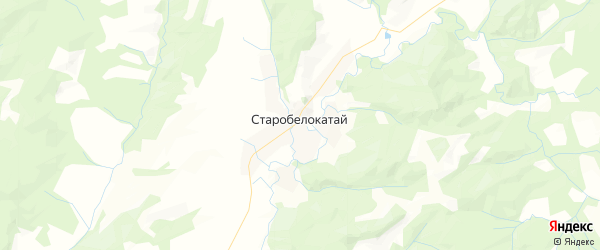 Карта Старобелокатайского сельсовета Республики Башкортостана с районами, улицами и номерами домов