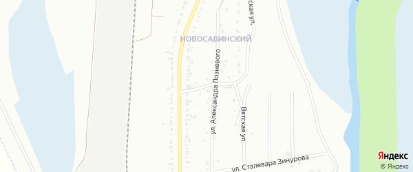 Клубный переулок на карте Магнитогорска с номерами домов