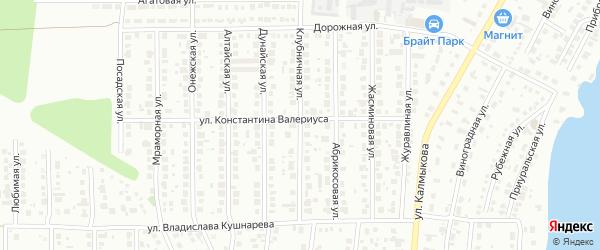 Клубничная улица на карте Магнитогорска с номерами домов
