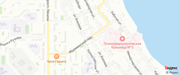 Улица Блюхера на карте Магнитогорска с номерами домов