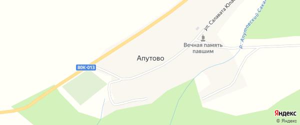 Улица Нагима Вахитова на карте села Апутово Башкортостана с номерами домов