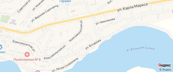 Улица Каменный Ров на карте Сатки с номерами домов