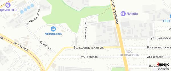 Улица Ватутина на карте Магнитогорска с номерами домов