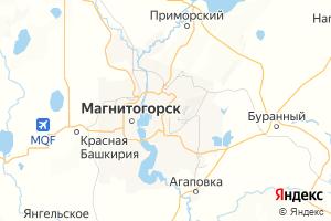 Карта г. Магнитогорск Челябинская область