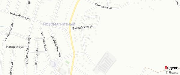 Улица Дмитрия Галкина на карте Магнитогорска с номерами домов