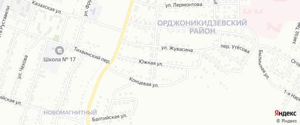 Южная улица на карте Магнитогорска с номерами домов