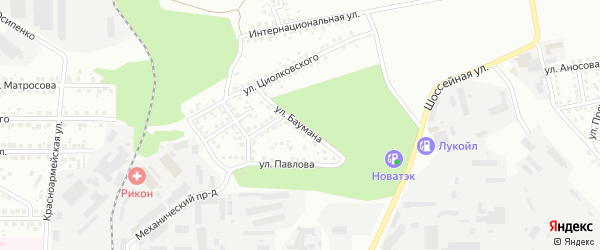 Улица Баумана на карте Магнитогорска с номерами домов