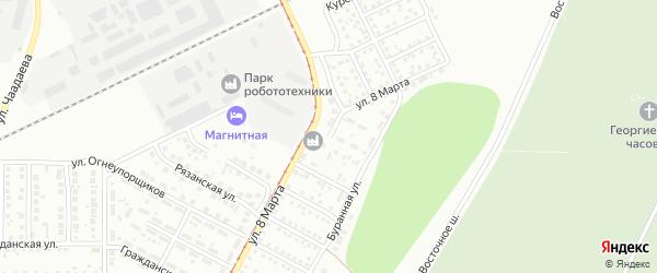Улица 8 Марта на карте Магнитогорска с номерами домов