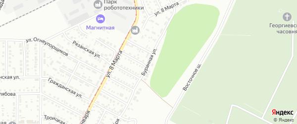 Буранная улица на карте Магнитогорска с номерами домов