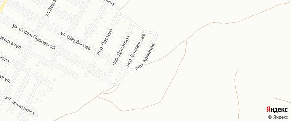 Переулок Армении на карте Магнитогорска с номерами домов