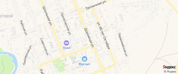 Дорожная улица на карте села Агаповки с номерами домов