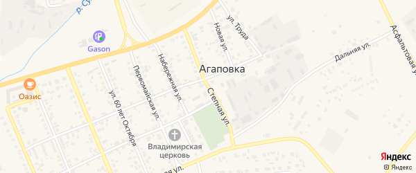Степная улица на карте железнодорожной станции Субутака с номерами домов