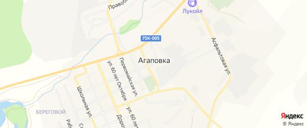 Карта села Агаповки в Челябинской области с улицами и номерами домов