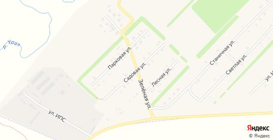 Зеленая улица в Верхнеуральске с номерами домов на карте. Спутник и схема онлайн