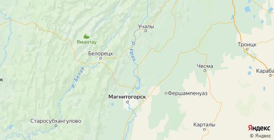 Карта Верхнеуральского района Челябинской области с городами и населенными пунктами