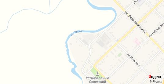Уютный переулок в Верхнеуральске с номерами домов на карте. Спутник и схема онлайн