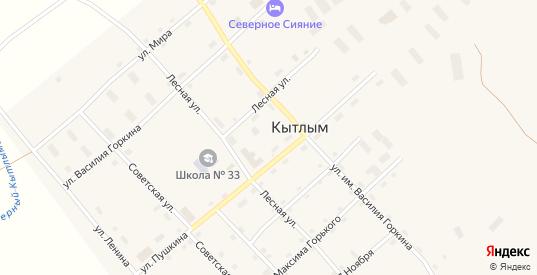 Улица Кирова в поселке Кытлым в Карпинске с номерами домов на карте. Спутник и схема онлайн