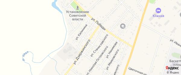 Улица Дзержинского на карте Верхнеуральска с номерами домов