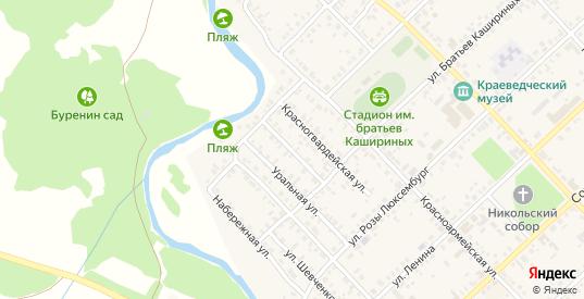Малопартизанская улица в Верхнеуральске с номерами домов на карте. Спутник и схема онлайн