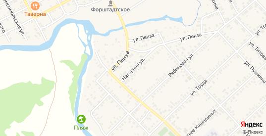 Нагорная улица в Верхнеуральске с номерами домов на карте. Спутник и схема онлайн
