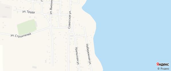 Набережная улица на карте Спасского поселка с номерами домов