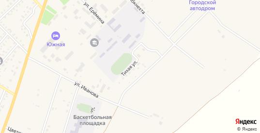 Тихая улица в Верхнеуральске с номерами домов на карте. Спутник и схема онлайн