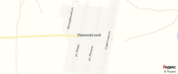 Советская улица на карте Ивановского поселка Челябинской области с номерами домов