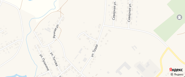 Кирпичный переулок на карте Верхнеуральска с номерами домов