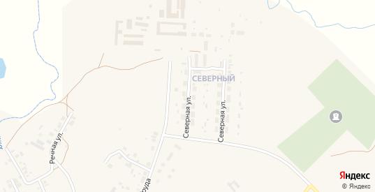 Северная улица в Верхнеуральске с номерами домов на карте. Спутник и схема онлайн