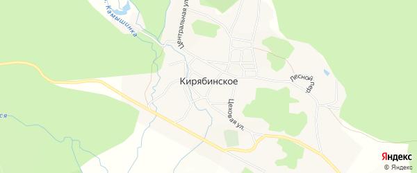 Карта Кирябинского села в Башкортостане с улицами и номерами домов