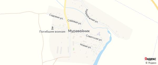 Новая улица на карте поселка Муравейника Челябинской области с номерами домов