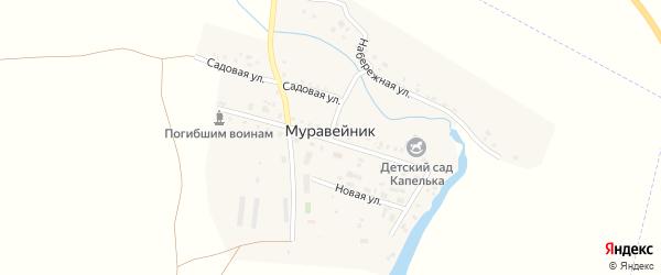 Садовая улица на карте поселка Муравейника Челябинской области с номерами домов