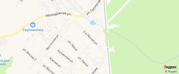 2-я Лесная улица на карте Нижние Серги с номерами домов