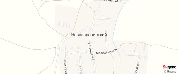 Зеленая улица на карте Нововоронинского поселка с номерами домов
