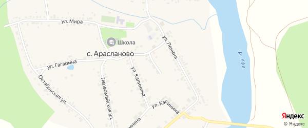 Школьная улица на карте села Арасланово с номерами домов