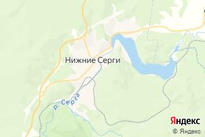 Карта г. Нижние Серги