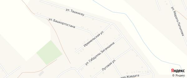 Иремельская улица на карте села Имангулово Башкортостана с номерами домов